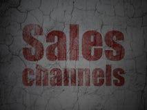 Concept de vente : Canaux de ventes sur le fond grunge de mur illustration stock