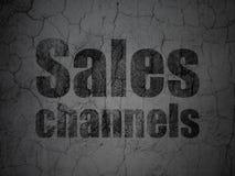 Concept de vente : Canaux de ventes sur le fond grunge de mur illustration libre de droits