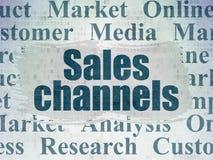 Concept de vente : Canaux de ventes sur le fond de papier de données numériques illustration de vecteur