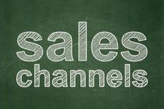 Concept de vente : Canaux de ventes sur le fond de tableau illustration de vecteur