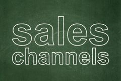 Concept de vente : Canaux de ventes sur le fond de tableau illustration libre de droits