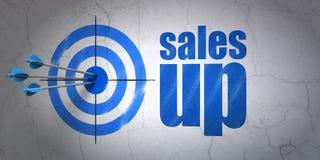 Concept de vente : cible et ventes sur le fond de mur Photos libres de droits