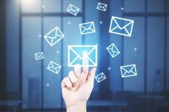 Concept de vente d'email Photos stock