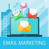 Concept de vente d'email Image libre de droits
