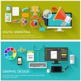 Concept de vente de Digital Conception graphique Images libres de droits