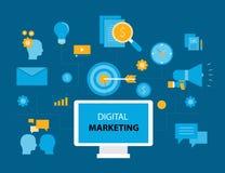 Concept de vente de Digital d'affaires illustration de vecteur