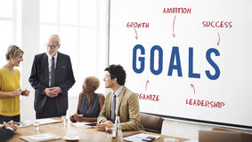 Concept de vente de stratégie de Goals Business Company Images stock