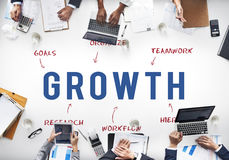 Concept de vente de stratégie de Growth Business Company Images stock