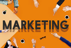Concept de vente de Team Meeting Lead Leadership Planning photos libres de droits