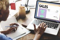 Concept de vente de vente au détail de marge bénéficiaire de revenu de commerce de ventes photographie stock libre de droits