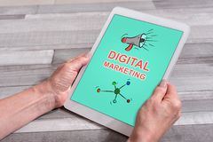 Concept de vente de Digital sur un comprimé illustration libre de droits