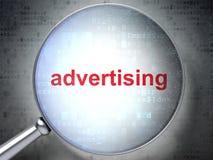 Concept de vente : La publicité avec le verre optique Image stock