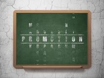 Concept de vente : promotion de mot dans la solution Images libres de droits