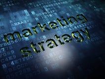 Concept de vente : Stratégie marketing sur le fond d'écran numérique Image stock