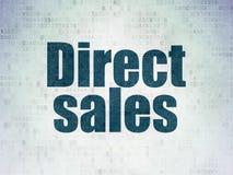 Concept de vente : Ventes directes sur le fond de papier de données numériques Image stock
