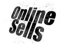 Concept de vente : Ventes en ligne sur le fond de Digital Photos stock