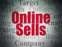 Concept de vente : Ventes en ligne sur le fond de papier de données numériques Image stock