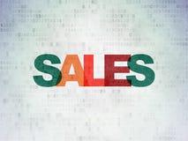 Concept de vente : Ventes sur le fond de papier de données numériques Photos stock