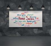 Concept de ventes à la maison Photographie stock libre de droits