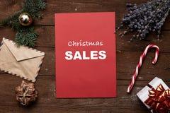 Concept de ventes de Noël Photographie stock libre de droits