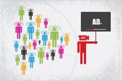 Concept de vidéo en direct et de marketing en ligne Photos libres de droits