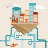 Concept de ville de vecteur illustration libre de droits
