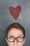 Concept de visage de femme avec le coeur photo libre de droits