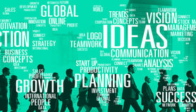 Concept de vision d'inspiration de la connaissance de créativité d'innovation d'idées Images stock