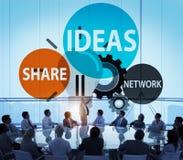 Concept de vision d'inspiration de la connaissance de créativité d'innovation d'idées Images libres de droits