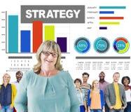 Concept de vision de solution de vente de plan des informations sur les données de stratégie Images stock