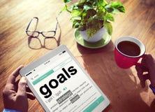 Concept de vision de stratégie de buts de dictionnaire de Digital Images libres de droits