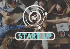 Concept de vision de stratégie de lancement de démarrage d'entreprise photos stock