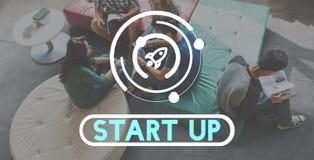 Concept de vision de stratégie de lancement de démarrage d'entreprise Images libres de droits