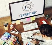 Concept de vision de stratégie de lancement de démarrage d'entreprise Image stock