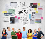 Concept de vision de stratégie de proposition de mission de concept d'idées photographie stock
