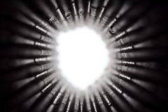 Concept de vision télescopique, manière du foyer de tunnel images stock