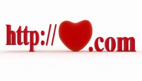 Concept de visiter la page préférée du site Web Images libres de droits