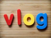Concept de Vlog photos stock
