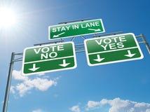 Concept de vote. Photographie stock libre de droits