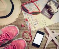 Concept de voyage avec l'accessoire Photo stock