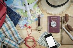 Concept de voyage avec l'accessoire Photographie stock libre de droits