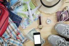 Concept de voyage avec l'accessoire Images libres de droits
