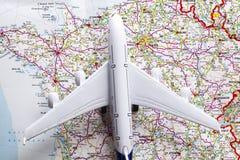 Concept de voyage avec l'avion Image stock