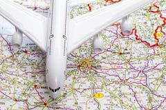 Concept de voyage avec l'avion Images libres de droits