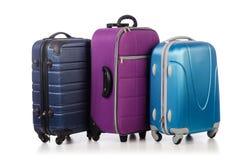 Concept de voyage avec le suitacase de bagage photos stock