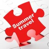 Concept de voyage : Voyage d'été sur le fond de puzzle Photographie stock