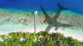 Concept de voyage d'avion à la destination exotique photo libre de droits