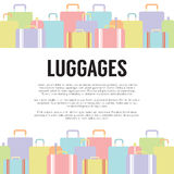 Concept de voyage de beaucoup de bagages Photographie stock libre de droits