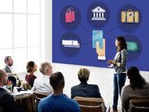 Concept de voyage de devise de crédit de bagages de finances Photo libre de droits