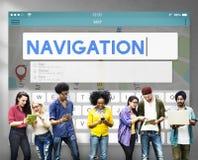 Concept de voyage de recherche de voyage d'emplacement de navigation Photo libre de droits